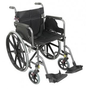 Deluxe Self Propelled Steel Wheelchair Silver
