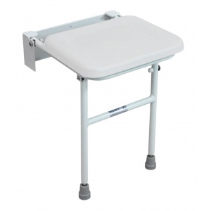 Solo Compact Folding Shower Seat White