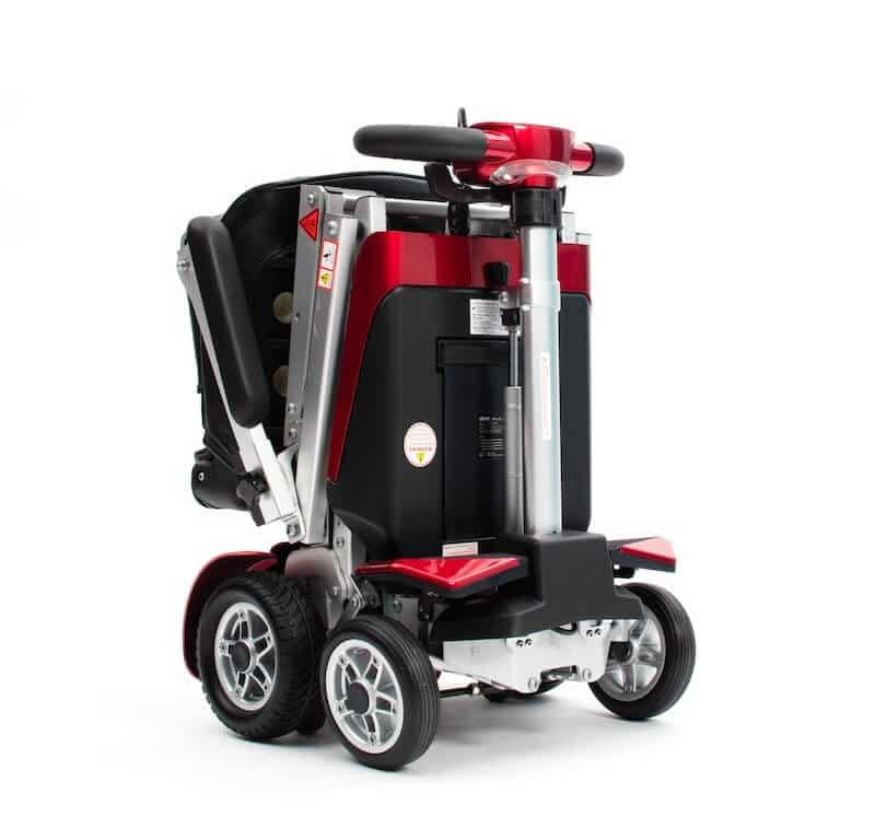Autofold Elite Auto Folding Mobility Scooter Red Folded